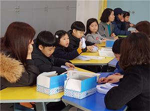 수업중인 교실 전경